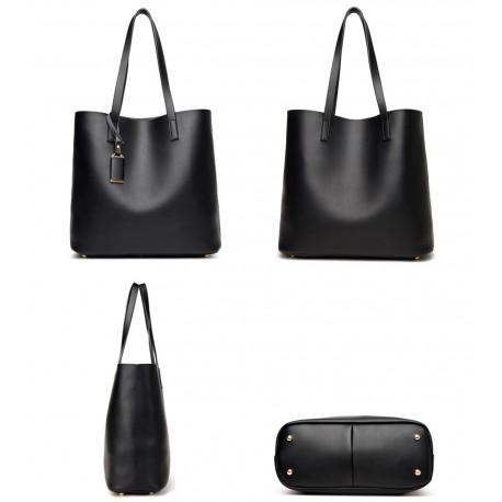 0efb1514e3631 Skórzana damska torebka z organizerem możliwym do wyjęcia. Shopperka ...