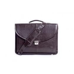 Eleganckamęska skórzana teczka na dokumenty i laptopa w kolorze czarnym lub brązowym. Wykonana przez polskich rzemieśln