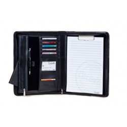 Elegancka i pojemna aktówka - biwuar na dokumenty wykonany z skóry naturalnej w kolorze czarnym lub wiśniowym. Aktówka p