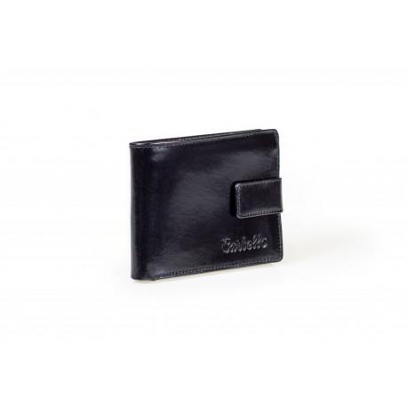 688d941e78c90 Elegancki wyjątkowy portfel męski wykonany z wytrzymałej skóry naturalnej w  kolorze czarnym i brązowym. Posiada