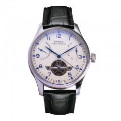 Biznesowy zegarek marki Parnis z mechanizmem automatycznym. -