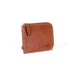 Zestaw nowoczesnegomini męskiego portfela na zamek z skórzaną bilonówką to połączenie dwóch najważniejszych dodatków ga