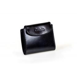 Mały i zgrabnyportfel damski wykonany z włoskiej skóry naturalnej dostępny w kolorze czarnym oraz czerwonym.Portfel je