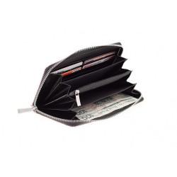 Damski skórzany portfel damski zamykany na zamek cechujący się oryginalnym i niepowtarzalnym stylem. Różowy lakierowany
