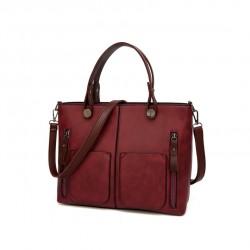 Damska torebka w stylu retro, szyta na miarę każdej okazji.Kolor torebki - bordowy. -