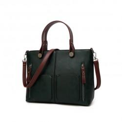 Damska torebka w stylu retro, szyta na miarę każdej okazji. Modnabutelkowa zieleń. -