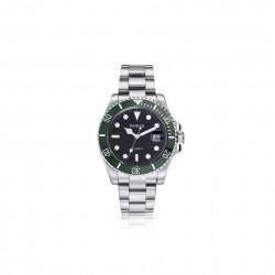 Męski zegarek automatyczny na bransolecie z stali nierdzewnej. -