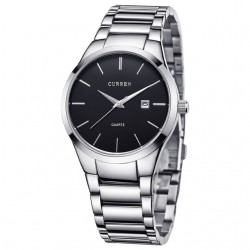 CURREN | Klasyczny zegarek męski na bransolecie z datownikiem. -