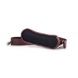 Klasyczny uniwersalny skórzany pasek do torby na ramię w kolorzebrązowym o szerokości 40mm. Pasek na ramię jest szeroki