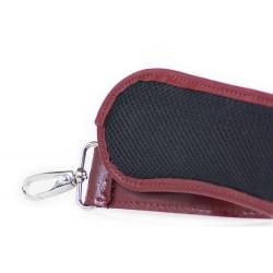 Klasyczny uniwersalny skórzany pasek do torby na ramię w kolorzebordowym wiśniowym o szerokości 40mm. Pasek na ramię je