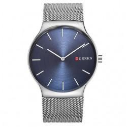 Klasyczny zegarek męski z bransoletą mesh. -