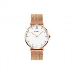 Elegancki lekki i klasyczny zegarek męski na co dzień z bransoletką typu mesh. -