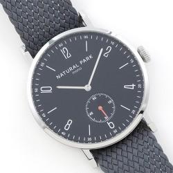 Minimalistyczny zegarek męski na parcianym nylonowym pasku. -