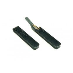 Eleganckie etui piórnik na długopislub pióro w kolorze czarnym, beżowym, brązowym, niebieskim, konikowym lub wiśniowym.