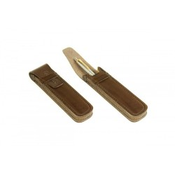 Eleganckie skórzane etui piórnik na długopislub pióro w kolorze czarnym, beżowymoraz brązowym. -