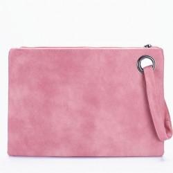Wieczorowa damska kopertówka do ręki. Kolor różowy. -