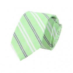 Krawat knit matowy bawełniany - Twój pierwszy krok docasualowej stylizacji z krawatem. -