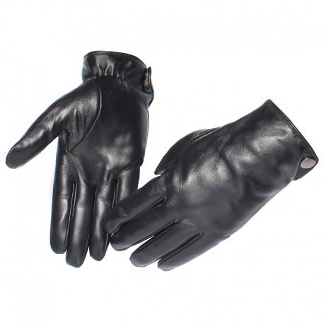f388ab10914a5a Ocieplane zimowe skórzane rękawiczki męskie. -