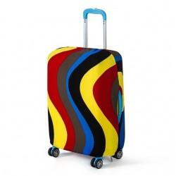 Pokrowiec na walizkę w groszki. -