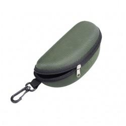 Klasyczne wytrzymałe etui na okulary w kolorze zielonym. -