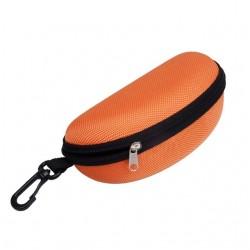 Klasyczne wytrzymałe etui na okulary w kolorze pomarańczowym. -