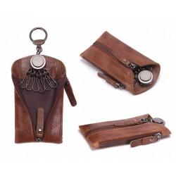 Eleganckie skórzane etui na klucze -