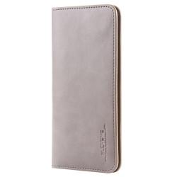 Skórzany uniwersalnyportfel case na telefon z miejscem na karty i dokumenty. -