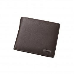 Elegancki dobrze wykonany skórzany portfel z perfekcyjnymi przeszyciami i wieloma kieszeniami. -