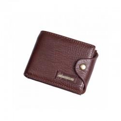 Mały wszędzie mieszczący się skórzany portfel męski. -
