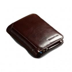 Brązowy portfel męski wykonany z wielką starannością o detale z skóry naturalnej. -