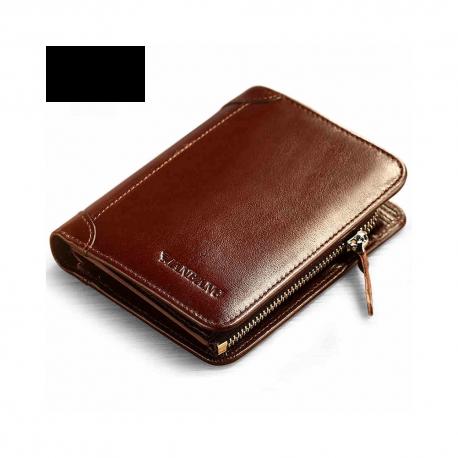 2eda5e67dbcd9 Elegancki męski portfel skórzany z miejscem na bilon i kieszonkami na karty.  -