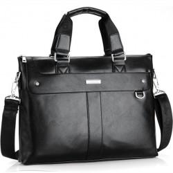 Elegancka skórzana torba listonoszka na laptopa. Na ramię lub do ręki - uniwersalna - idealna do pracy i spotkania bizne