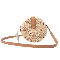 Bardzo kobieca i wyjątkowa torebka typu bali -ręcznie wykonana z wikliny. -