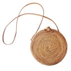 Mała torebeczka ręcznie wykonana z słomy. Damska torebka idealna na letnie wypady na plaże lub w miasto. -