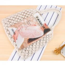 Oryginalny shopper bag - torba na zakupy. Pleciona ręcznie na styl bali. -