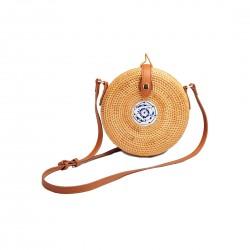 Śliczna modna torebka bali wykonana ręcznie z naturalnych materiałów 20 x10cm. -