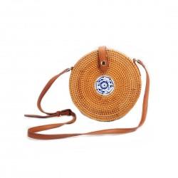 Śliczna modna torebka bali wykonana ręcznie z naturalnych materiałów 20 x5 cm. -