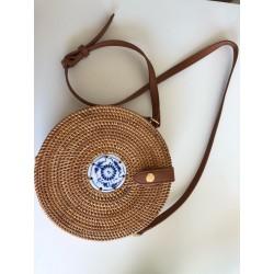 Śliczna modna torebka bali wykonana ręcznie z naturalnych materiałów 20 x 10 cm. -