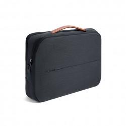 Damska nowoczesna i elegancka torba na laptopa w kolorze czarnym -