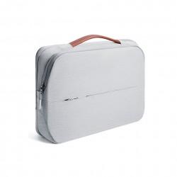 Damska nowoczesna i elegancka torba na laptopa w kolorze szarym -