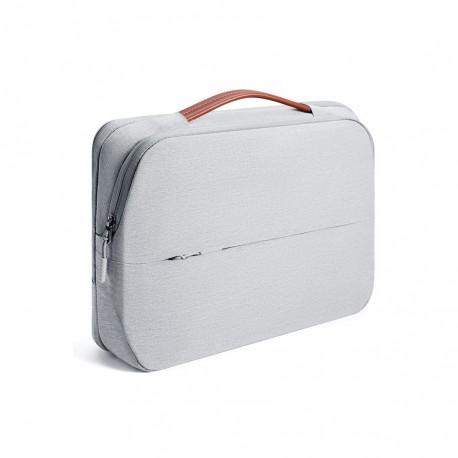 f435f7102ef Damska nowoczesna i elegancka torba na laptopa w kolorze szarym -