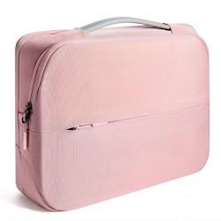 Damska nowoczesna i elegancka torba na laptopa w kolorzeróżowym -