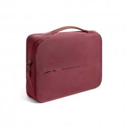Damska nowoczesna i elegancka torba na laptopa w kolorzeburgundowym -
