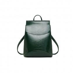 Damski skórzany plecak torebka w kolorzezielonym -