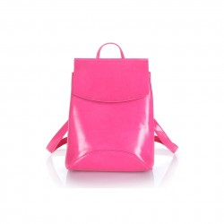 Damski skórzany plecak torebka w kolorzeróżowym -