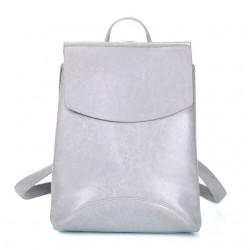 Damski skórzany plecak torebka w kolorzeszarym -