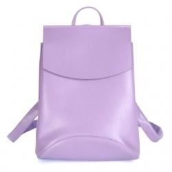Damski skórzany plecak torebka w kolorzefioletowym -