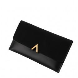 Czarny elegancki damski skórzany portfel -
