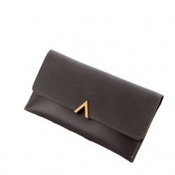 Szaryelegancki damski skórzany portfel -