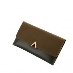 Zielonyelegancki damski skórzany portfel -